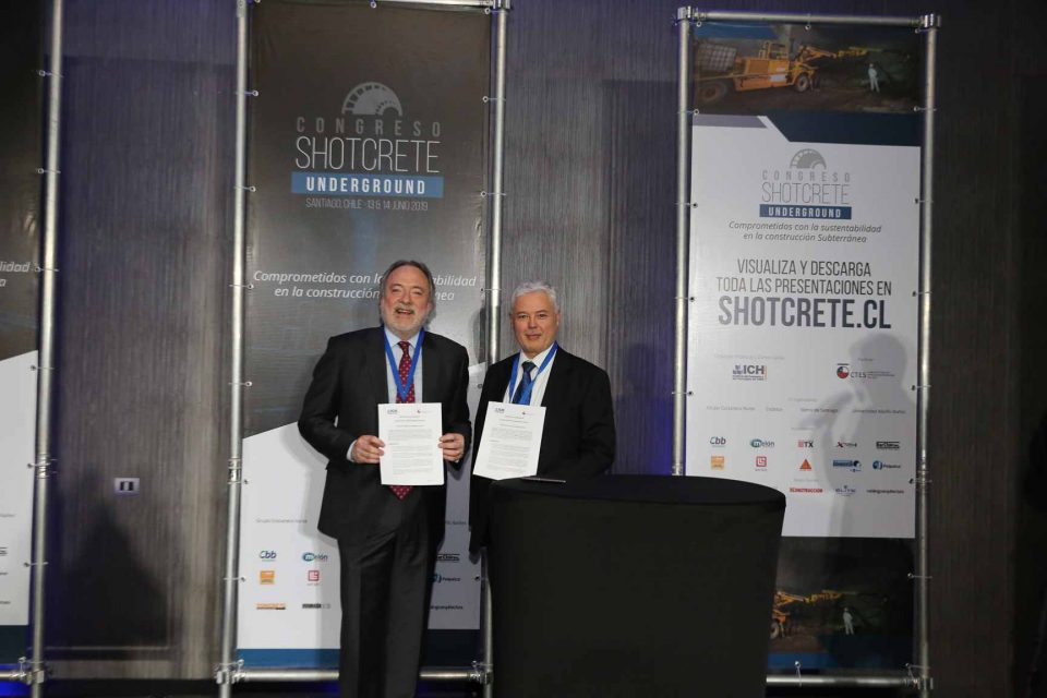 CTES e ICH firmaron convenio marco en el segundo Congreso Shotcrete Underground 2019