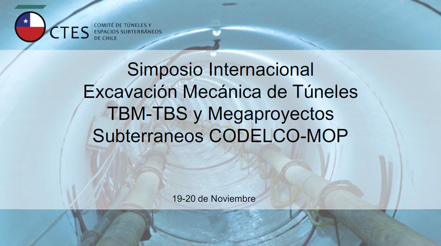 Presentacion Simposio Internacional Excavación Mecánica de túneles TBM-TBS