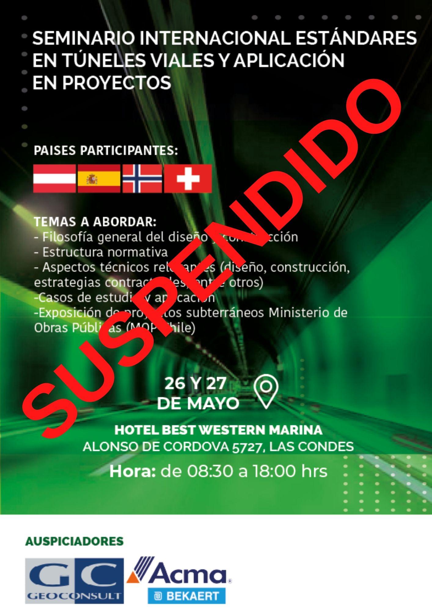 """Seminario Internacional """"Estándares en túneles viales y aplicación en proyectos"""""""