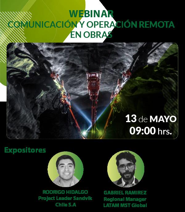 Webinar: Comunicación y Operación remota en obras subterraneas