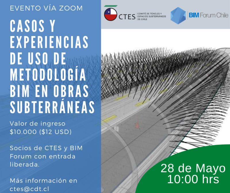 """Webinar: """"Casos y experiencias de uso de metodología BIM en obras subterraneas"""