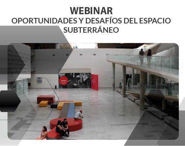 """Webinar """"Oportunidades y Desafíos del Espacio Subterraneo"""""""