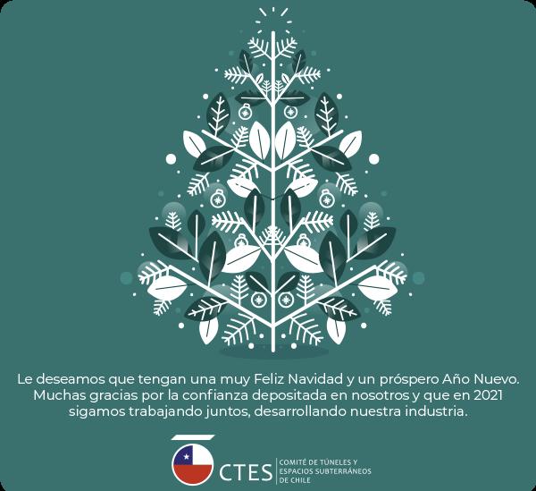 Felices Fiestas les desea el Comité de Túneles y Espacios Subterráneos (CTES-Chile)