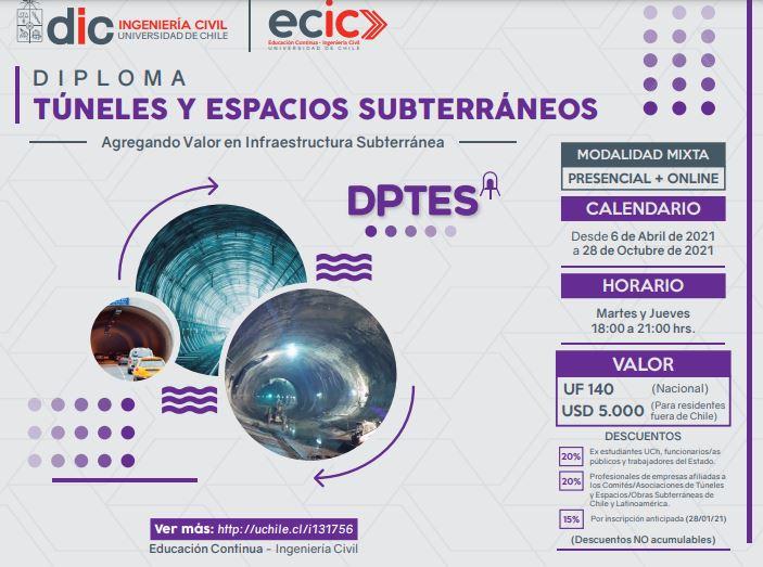 Dicuchile de la Universidad de Chile inicia nueva edición del Diploma de Túneles y Espacios Subterráneos