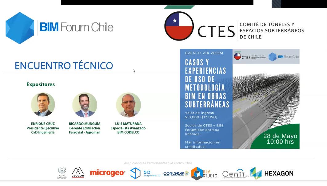"""[VIDEO] Encuentro Técnico """"Casos y Experiencias de uso de metodología BIM en obras subterráneas"""