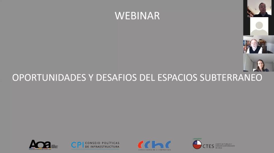 """[VIDEO] Webinar """" Oportunidades y Desafíos del Espacio Subterráneo"""""""