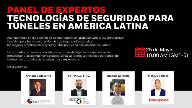 Participa del Panel Expertos: Tecnologías de Seguridad para Túneles en América Latina