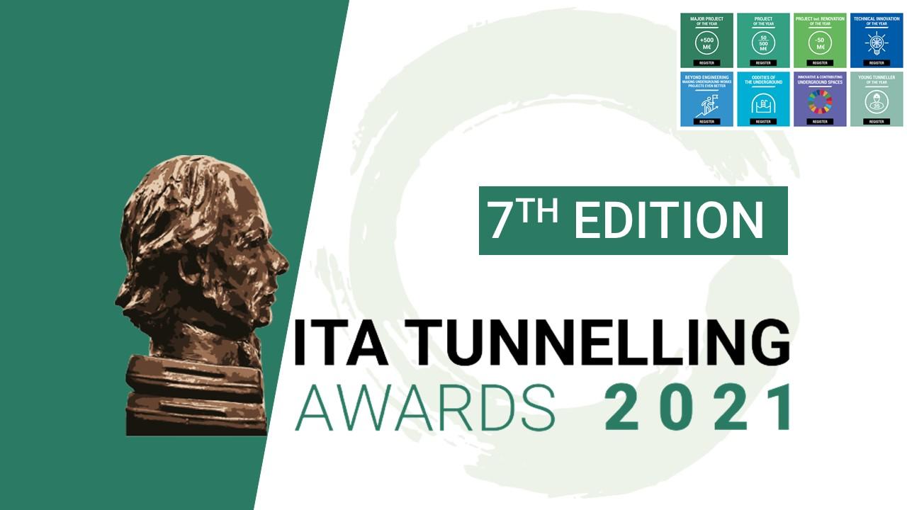 7ma Edición: ITA Tunneling Awards 2021: Convocatoria de Inscripciones