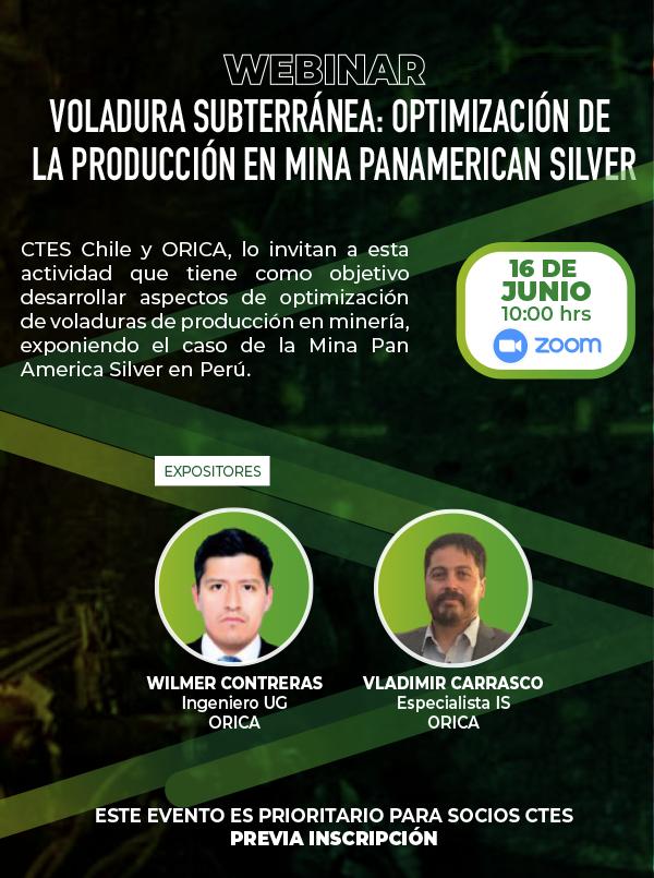 No te pierdas el Webinar Voladura Subterránea: Optimización de la producción en Mina PanAmerican Silver