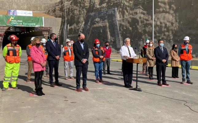 Presidente Piñera inaugura nuevo túnel El Melón