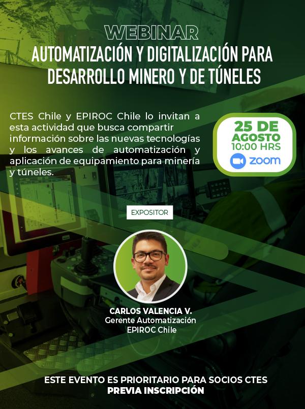 """Webinar """"Automatización y digitalización para desarrollo minero y de túneles"""""""